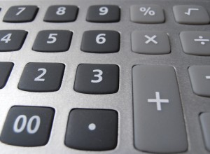 Keys Calculator with numbers and symbols closeup